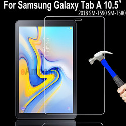 Top 9H HD przeciwwybuchowe szkło hartowane do Samsung Galaxy Tab A A2 10.5 2018 T590 T595 SM T590 ochrona ekranu tabletu Ochraniacze ekranu do tabletów Komputer i biuro -