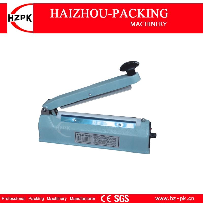 Handheld Heat Impulse Sealer Plastic Aluminum Bag Sealing Machine Iron Body Manual Sealer Small Industrial Machine Packer SF-300 zw ks 100 impulse sealer blue