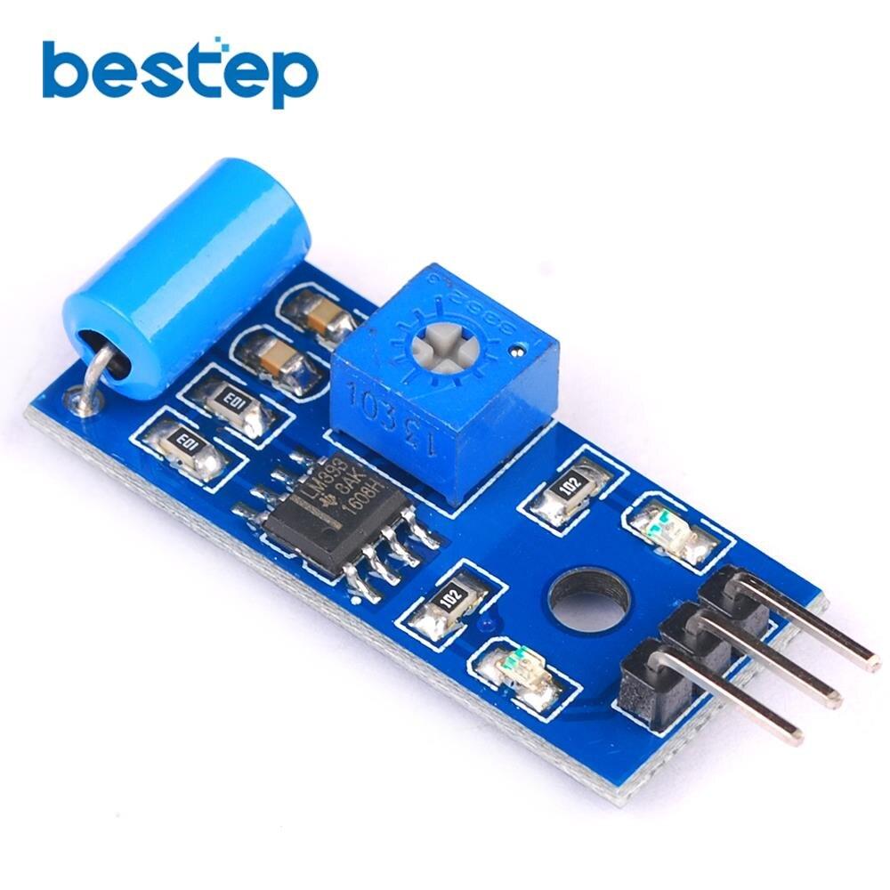 5PCS SW-420 Vibration Sensor Module Normally Closed SPST-NC Vibration Switch Alarm Sensor Module