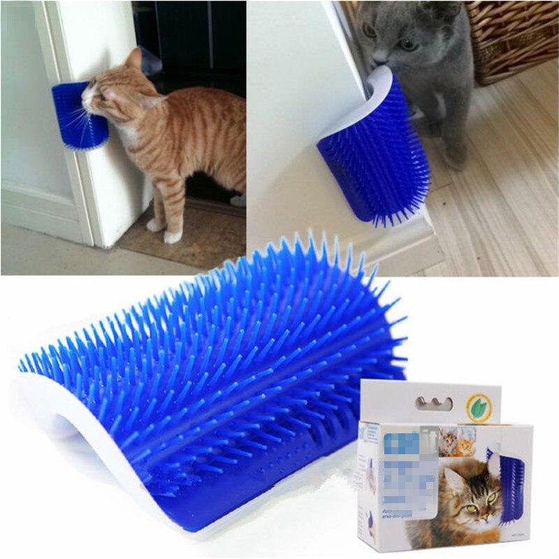 Cat massage dispositif auto groomer avec cat pet jouet brosse peigne peignage Chats Pour Enlever Les Poils Des Animaux Domestiques Marchandises pour animaux
