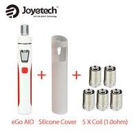 Original Joyetech EGo AIO Kit 2ml 1500mAh W SS316 BF Coil 1 0ohm 0 6ohm Silicone