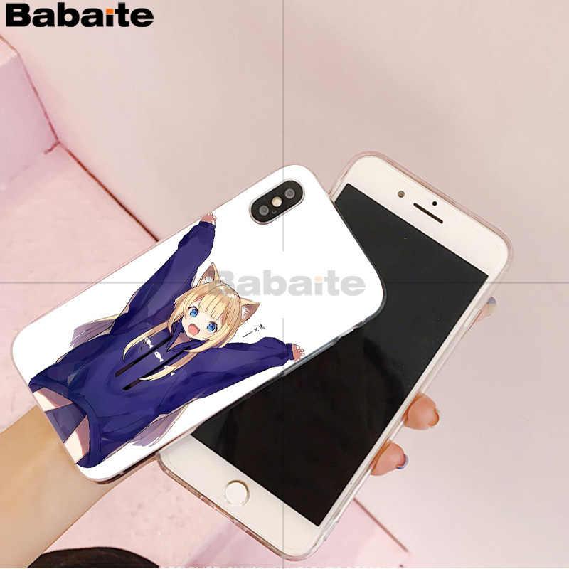 Babaite Sexy cartoon anime kawaii dziewczyna kot miękkie etui z tpu na telefon dla iPhone 8 7 6 6S Plus 5 5S SE XR X XS MAX Coque Shell