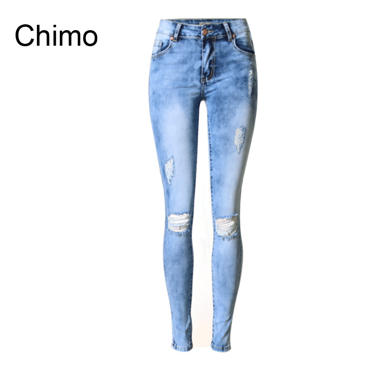 Ripped Jeans For Women Skinny Denim Capri Jeans Femme Stretch Plus Size Female Jeans Vaqueros Mujer Slim Pencil Pants For Women new 2017 women skinny denim jeans femme stretch plus size female high waist jeans vaqueros mujer slim pencil pants e890