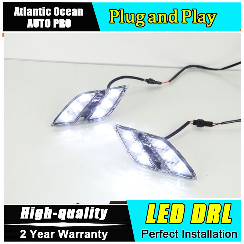 JGRT car styling For peugeo 301 LED DRL For 301 led daytime running light High brightness guide LED DRL