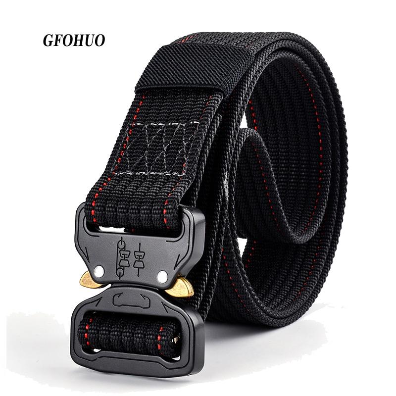 3.7cm Width New Luxury Design Men Army Tactical Nylon Belts Breathe Freely Outdoor sport Canvas Belt Combat Strap Waistband
