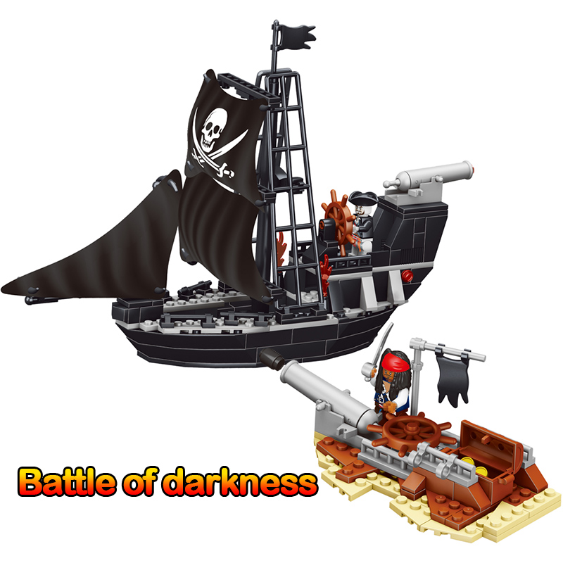 225pcs Pirates Ship Black Model Compatible Legoinglys Anime Movie Character Building Block Educational Toy For Children Gifts large block black pearl model ship set 3d block brick plastic diy building blocks gift children compatible educational toy