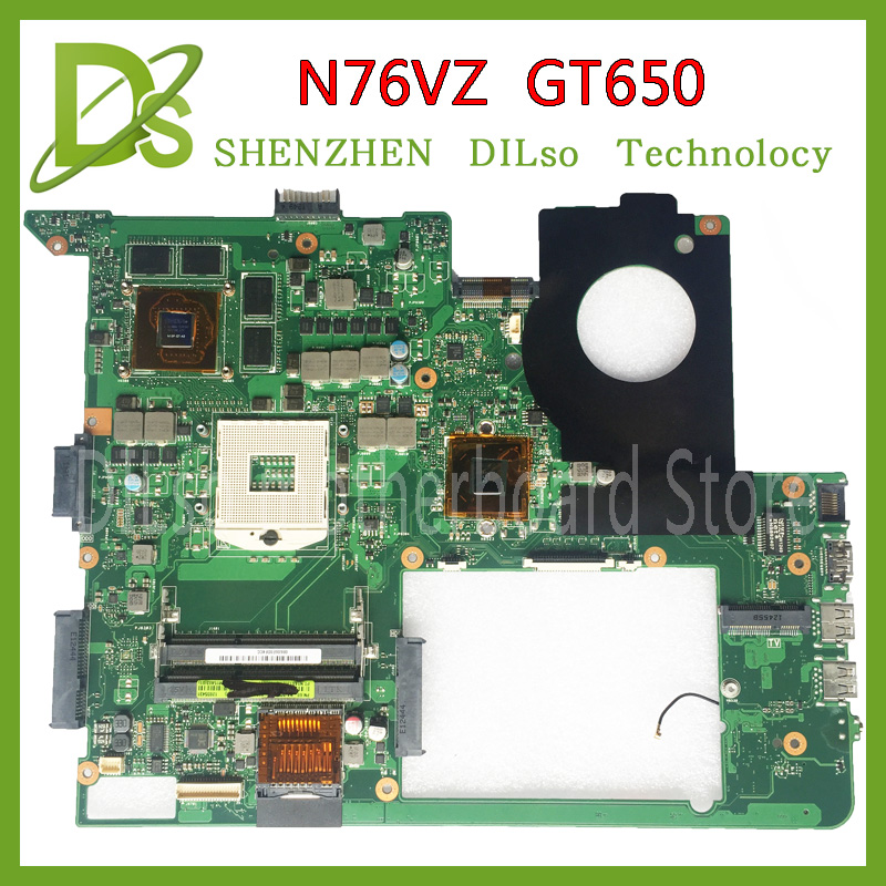 KEFU N76VZ motherboard For ASUS N76V N76VM N76VZ Laptop motherboard N76V mainboard REV 2.2 GT650 tested freeshipping original hot for asus x551ca laptop motherboard x551ca mainboard rev2 2 1007u 100% tested new motherboard