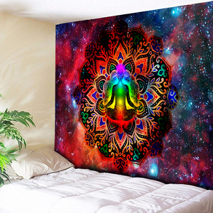 Starry Night Galaxy Decor Psychedelic Tapestry Wall Hanging Indian Mandala Tapestry Hippie Chakra Tapestries Boho Wall Cloth(China)