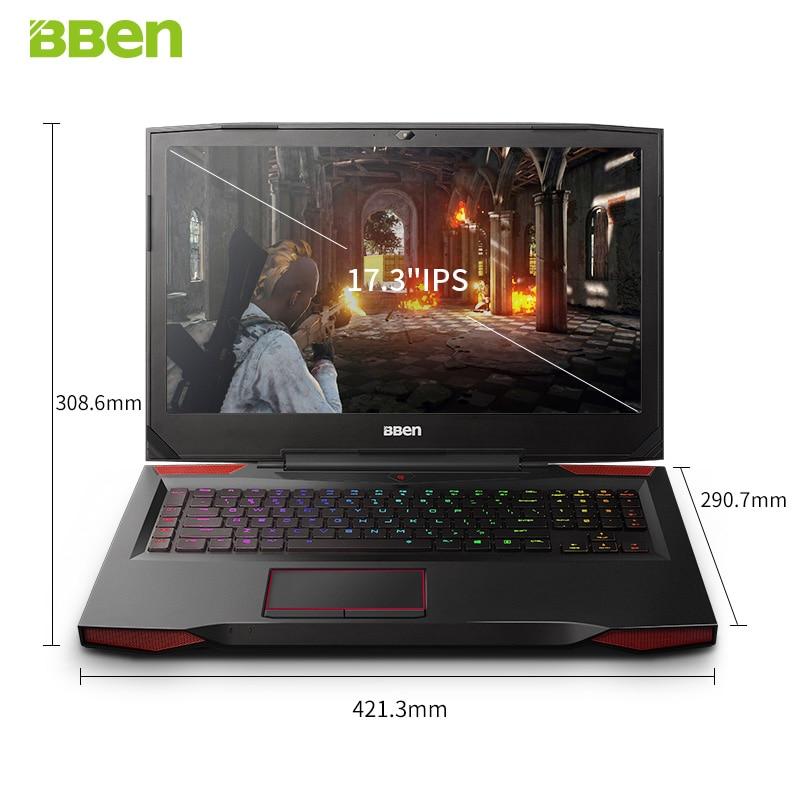 BBEN G17 Gaming Laptop 17 3 inch i7 cpu GTX1060 GDDR5 NVIDIA Windows10 DDR4 32GB 512GB BBEN G17 Gaming Laptop 17.3 inch i7 cpu GTX1060 GDDR5 NVIDIA Windows10 DDR4 32GB+512GB SSD+2TB HDD RGB Mechanical Keyboard
