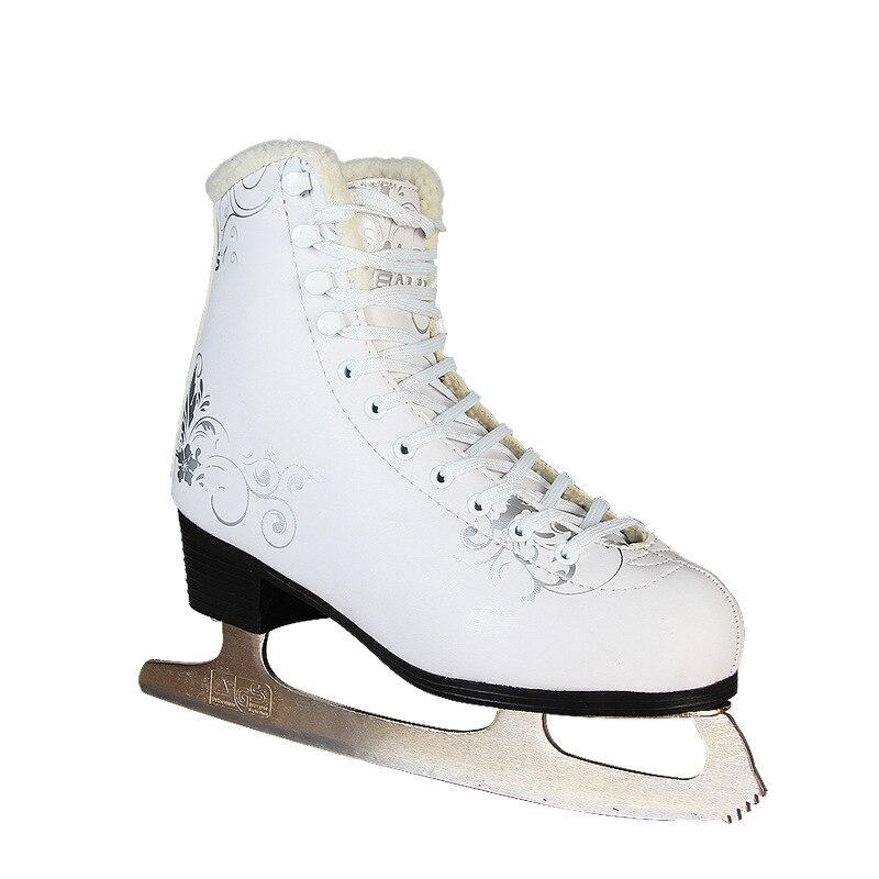 2018 nouveau adulte figure skate chaussures enfants vrais patins à glace vitesse patins chaussures femme chaussures