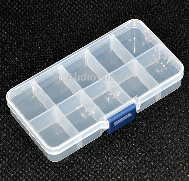 ( 10 Pcs/lot ) Ten Grid Plastic Component Box. 5.2