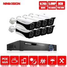 NINIVISION 8CH CCTV System 5.0MP HDMI POE 16CH NVR 8PCS IR Security IP Camera Surveillance