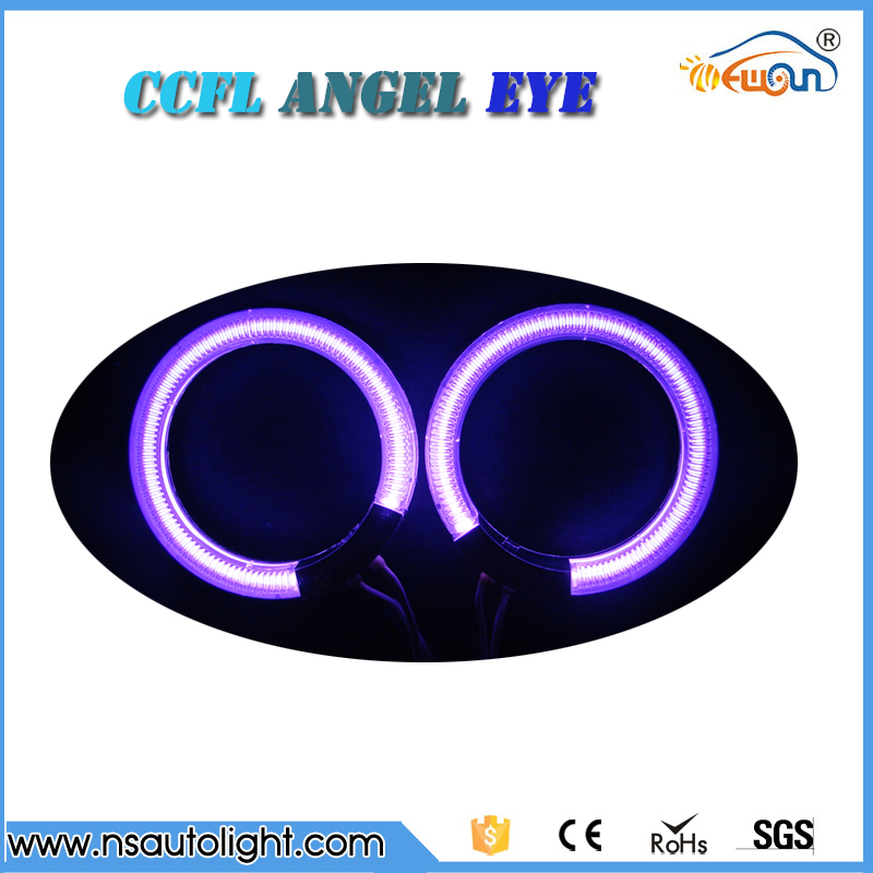 ФОТО  4pcs CCFL Angel Eyes conversion kit   72mm 80mm 85mm 90mm CCFL halo rings white blue yellow green purple orange