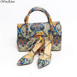 0c98abd6f43 WENZHAN italian shoes with matching Leather High Heel Bag