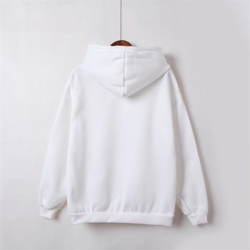 Hooded Tops Women's Sweatshirt Long-Sleeved Winter Velvet Thickening Coat 31