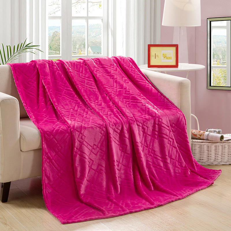 Wholesale Light Weighted Fleece Blanket For Bedding Sofa