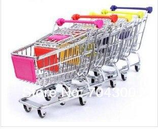 Home Storage Box Mini Supermarket Shopping Handcart trolley