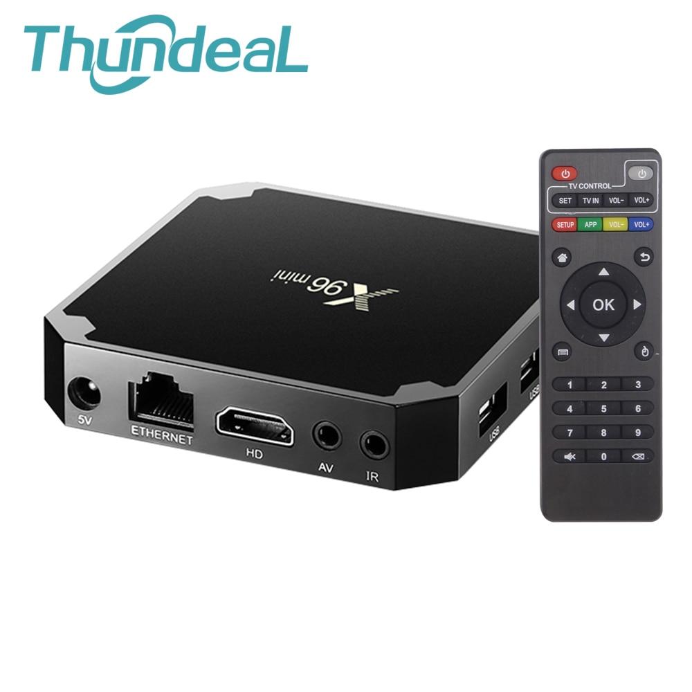 X96 Mini TV Box Android 7.1.2 WIFI 4 K HD Smart Media Player Smart Set Top BOX 8G 32G Amlogic S905W Quad Core HDMI X96Mini TV Box