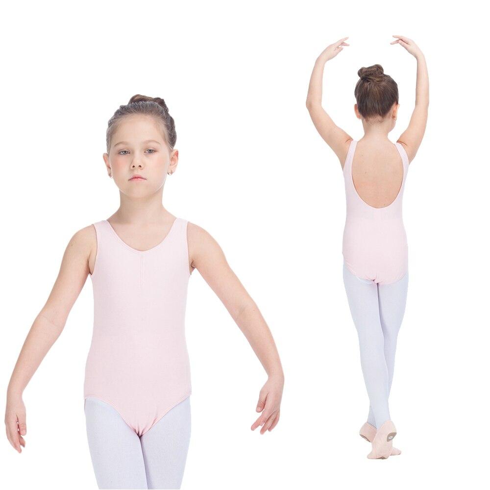 ac53f85d9 Kids Ballet Dance Leotards with Drawstring Light Pink Cotton Lycra ...