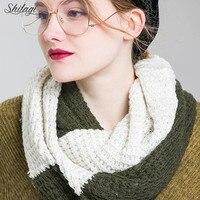 Shitagi Brand 2018 Popular Scarf Wool Collar Neck Warm Charm Youth Solid Soft Ring Knitting Comfortable