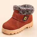 New Children Boots Boys Girls Winter Snow Boots Plush Lined Cow Leather Waterproof Baby Shoes Kids Martin Sneakers Flats Oxford