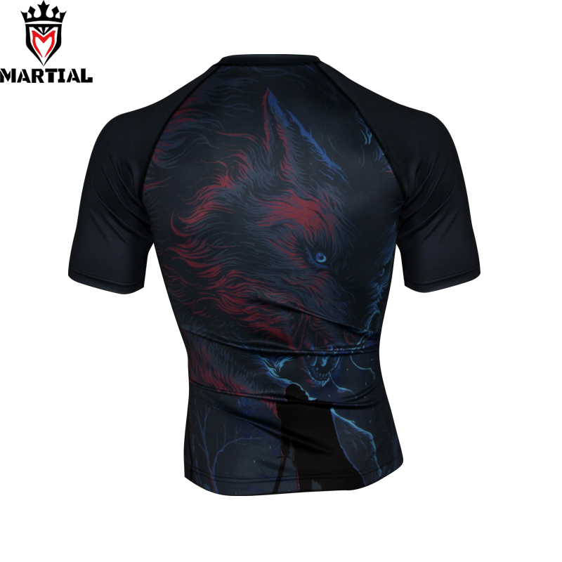 Martial:NEW ORIGINAL DESIGN Winter Is Coming Mma Rashguards Shirt Man Gym Compression Bjj Shirts