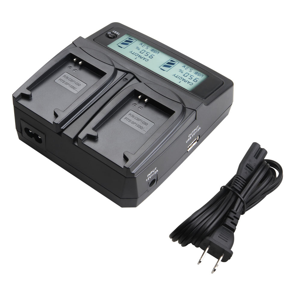 Udoli BP 1030 BP 1030 BP1030 Camera Battery Car Dual Charge With LCD Display For SAMSUNG on canon camera battery charger nb 6l