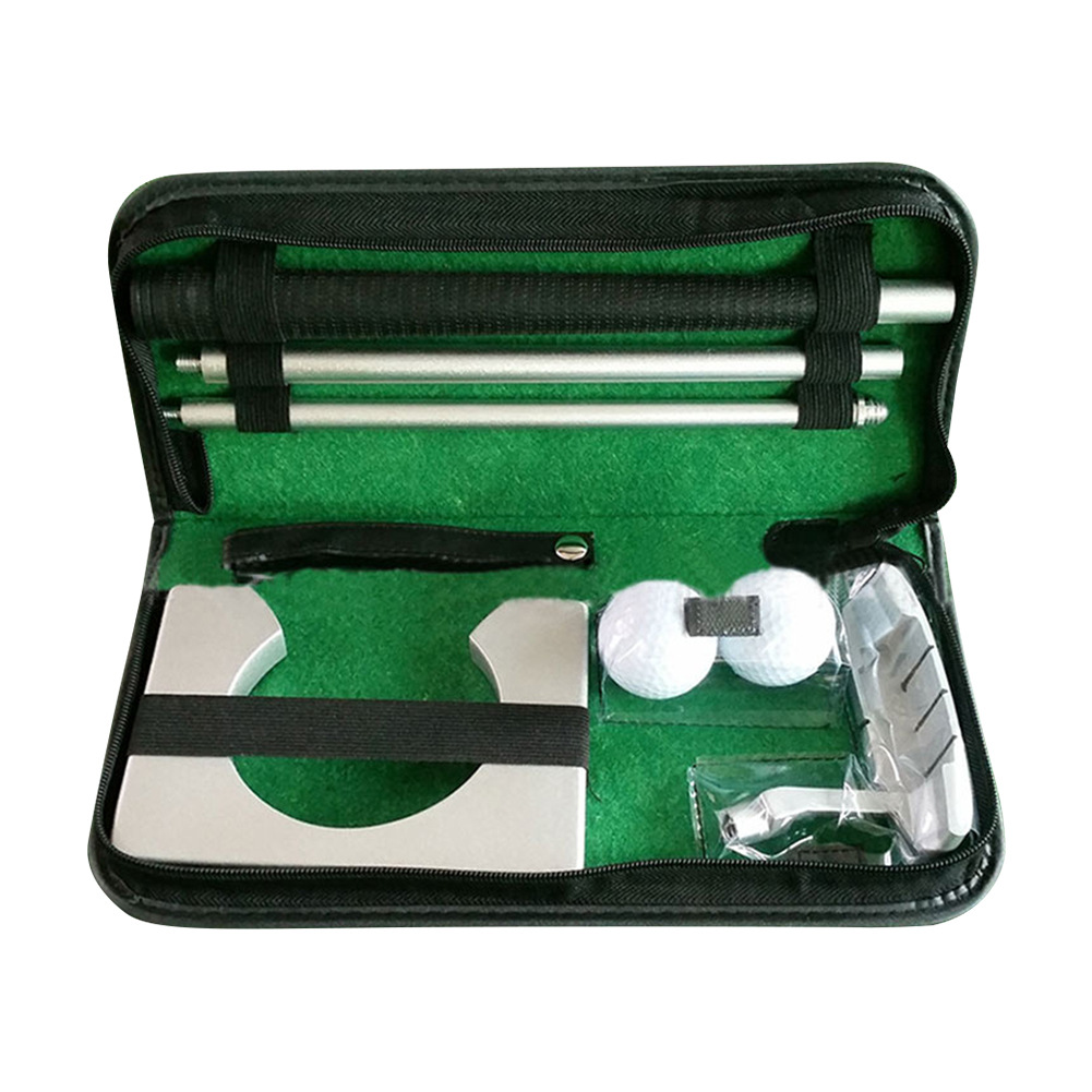 Portable Golf Putter Putting Trainer Set Indoor Training Equipment Golfs Ball Holder Training Aids Tool with Carry Case 13