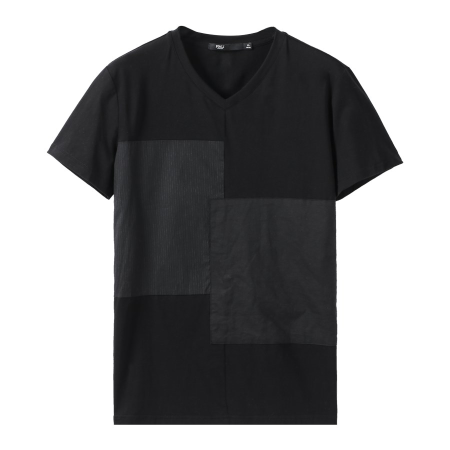 Linkin Park Palace Product Made The New Summer V-neck Splicing Men's Cultivate Morality Short Sleeve T-shirt Coat B192211278 67