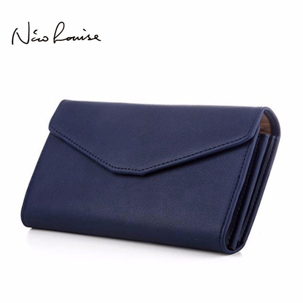 Top Quality Leather Wristlet Women Wallet Female Brand Clutc