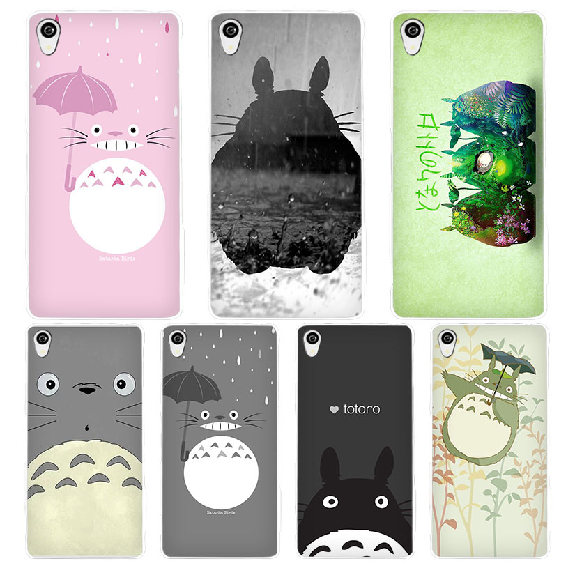 Totoro White Phone Case Cover for Sony Xperia Z1 Z2 Z3 Z4 Z5 M4 Aqua C4 XA XZ E4 E5 L36H ...