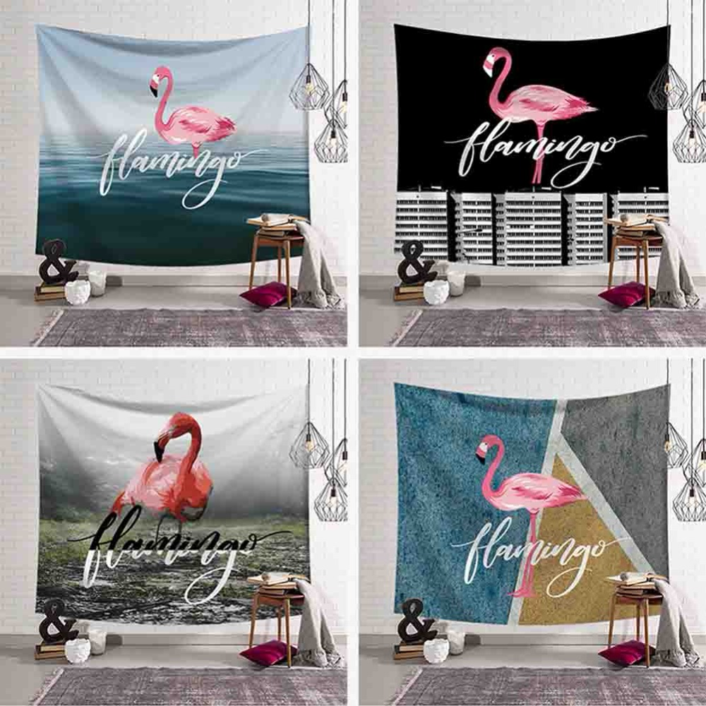 Flamingo Series Home Decorative Tapestry Animal Wall Hanging Tapestries Polyester Fabric Gobelin Mural Wall Cloth Beach Yoga Mat