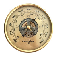 New 108mm Atmospheric Mosaic Machine Perspective Hollow Movement Barometer