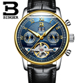 Suíça binger relógios homens marca de luxo turbilhão múltiplas funções resistente à água relógios de pulso mecânicos b-8603m-12