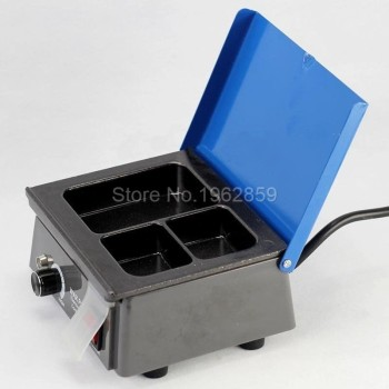 Free Shipping Dental Wax Pot Dental Lab Equipment Wax Heater 3-well Wax Heating Analog Dipping Pot Dental Instrutment. image