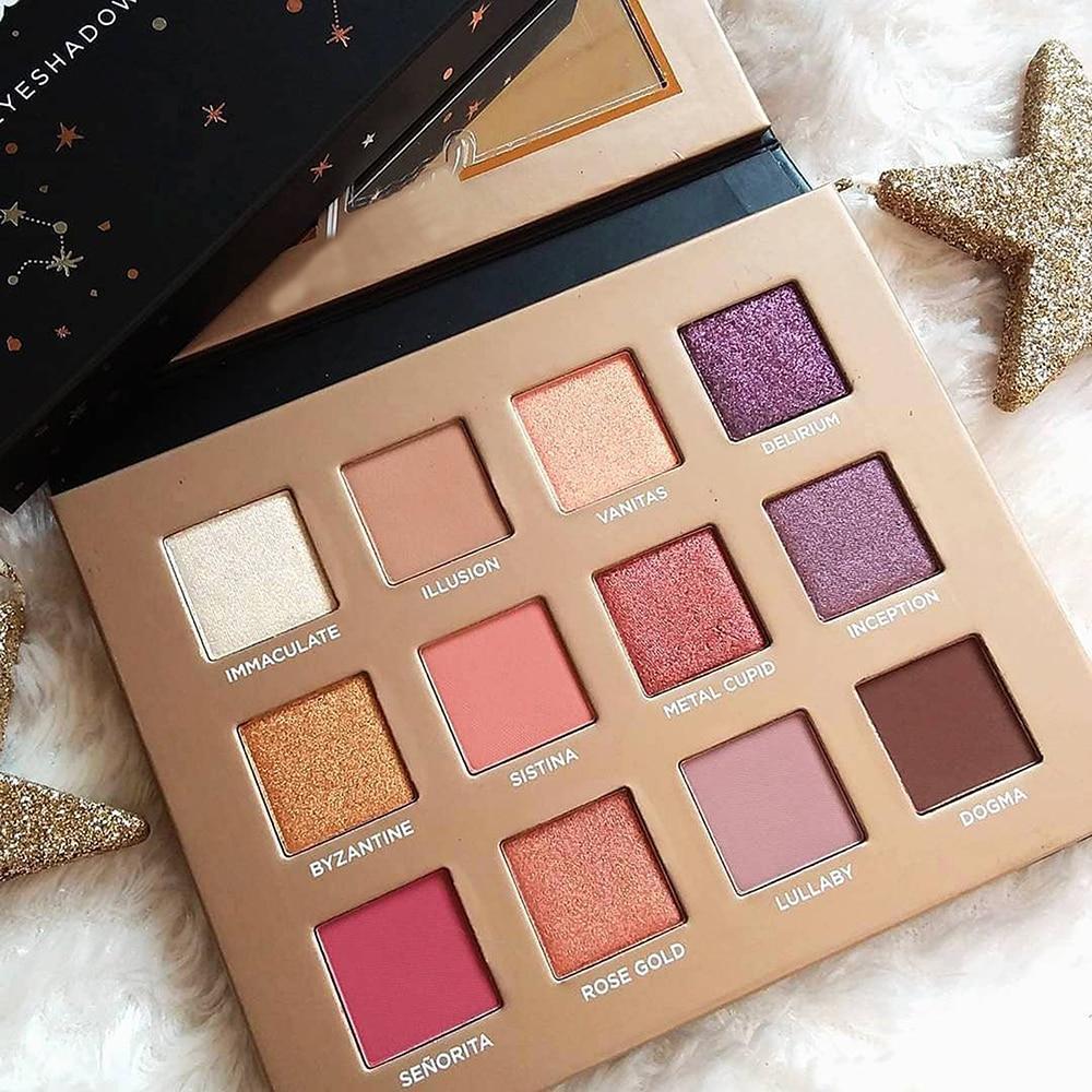 LUTER 12 Color Dreamy Romantic Eyeshadow Palette Glitter Matte Cosmetics Long-Lasting Waterproof Wholesale Dropship цена