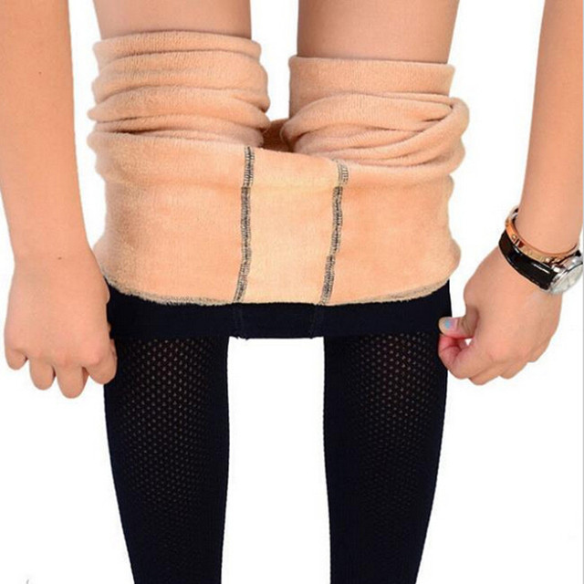 Flesh-colored Velvet Thick Warm Body Sculpting was thick Jeggings Stepped Foot Superelastic Black  Skinny Leggings Sexy Women