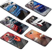 BMW Tempered Glass Case For Samsung Galaxy A10 A20 A30 A40 A50 A60 A70 S7 Edge S8 S9 Plus S10 Note 8 9 Cover(China)