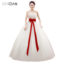 ab3c7a8e67 Buy wedding dress with red sash and get free shipping on AliExpress.com