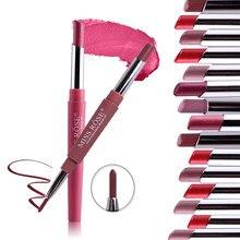 MISS ROSE rouge à lèvres mat Double extrémité chaud longue durée imperméable Lipliner hydratant professionnel Stick à lèvres crayon TSLM1