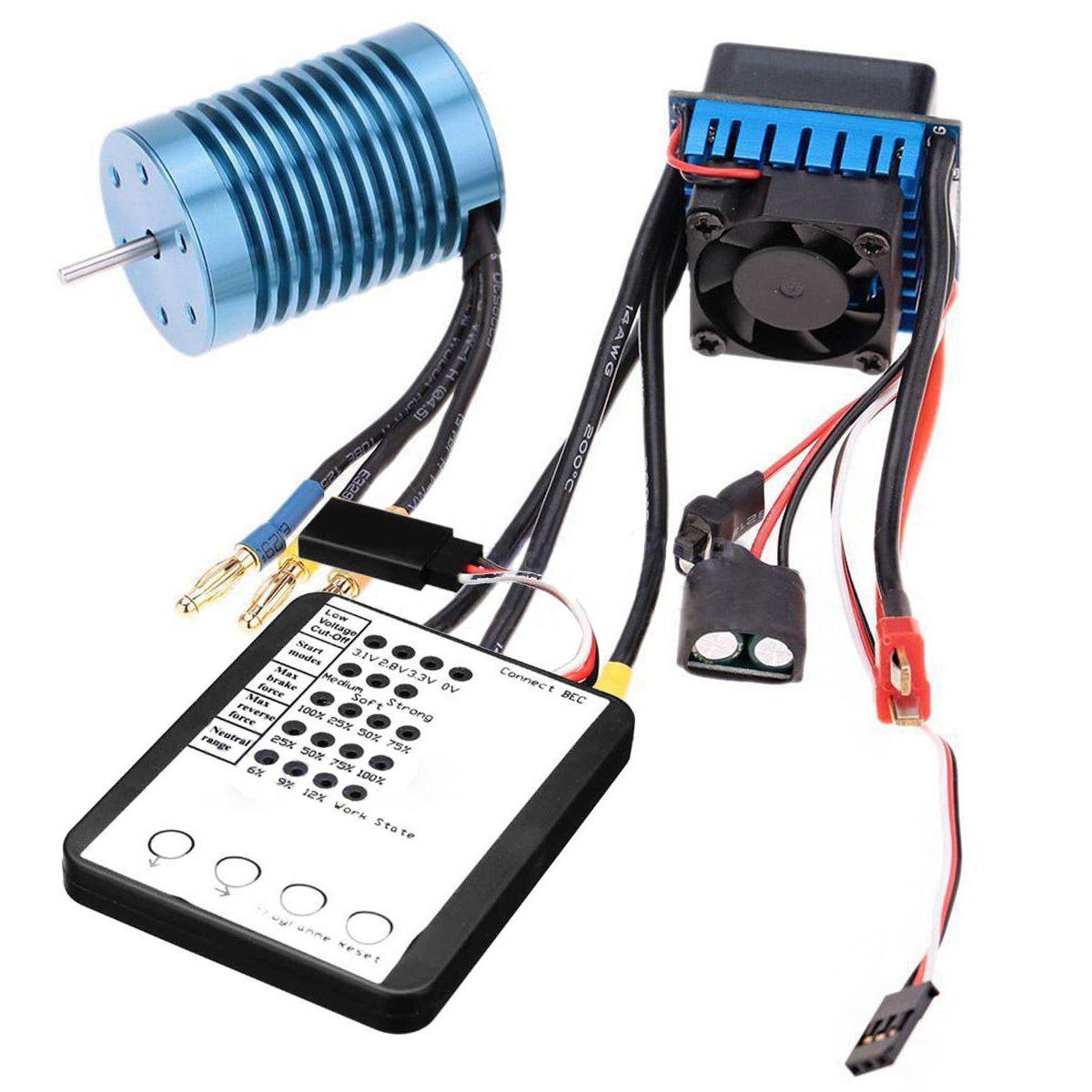 FBIL-SURPASS хобби 3650 4370KV 4 P бесщеточный двигатель и 45A ESC светодио дный LED Программирование карты Combo RC комплект
