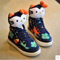 New 2016 Autumn Winter Warm Children Shoes High Top Cute Boys Girls  Cotton Shoes Kids Sneakers #2192