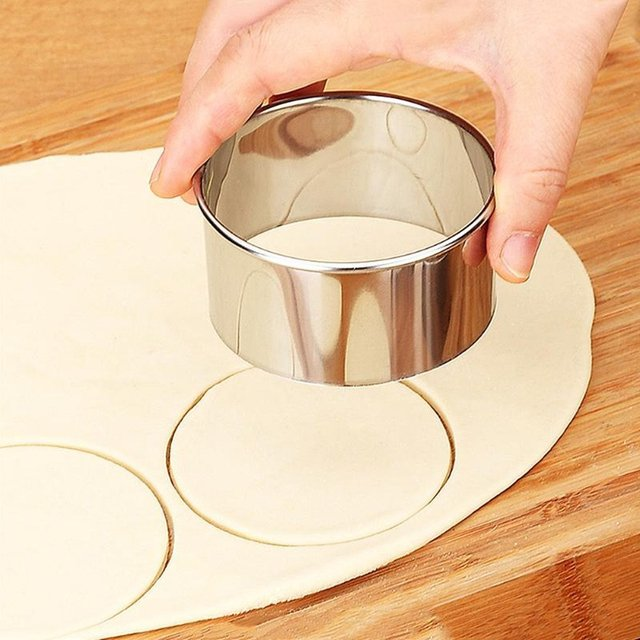 3 stks/pak Rvs Cookie Cutter Ronde Kerst Cookie Cutters voor Knoedel Wrappers Mallen Fondant Biscuit Mold