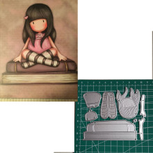 Metal Cutting Dies Little doll reading 2019 Scrapbooking Craft Cut Stamps Embossing Stencils Invitation Card
