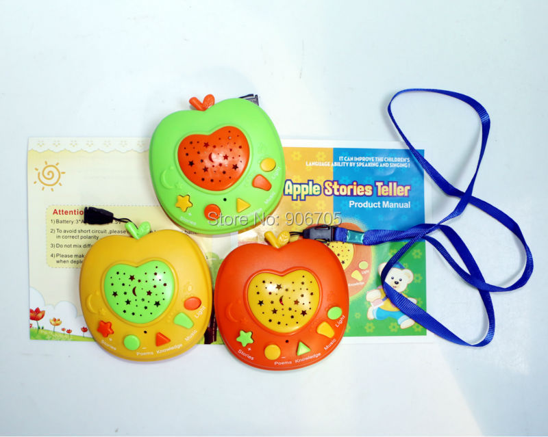 English Language Apple Stories Teller 50 Minute Sound Educational kids learning toys with Stories Music Poem