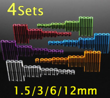 цена на 4 Sets 1.5/3/6/12mm Aluminum Spacer Set Standoff Aluminium Tube Column Spare Parts for Tamiya Mini 4WD RC Car Model