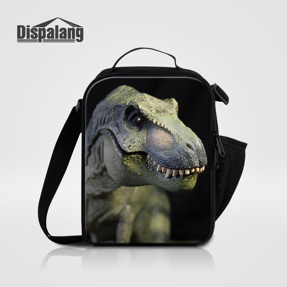Мужские Термо-холщовые сумки для ланча, лисы, волка, динозавра, змеи, для мальчиков, сумка-холодильник для еды, пикника, Детская маленькая сумка-Ланч-бокс на молнии для школы - Цвет: Lunch Bag13