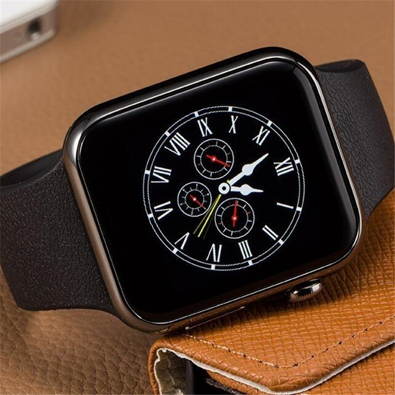 imágenes para Bluetooth smart watch a9 caliente para apple iphone 5 5s 6 plus 7 del reloj del teléfono inteligente samsung para huawei xiaomi htc android pk w51 DZ09