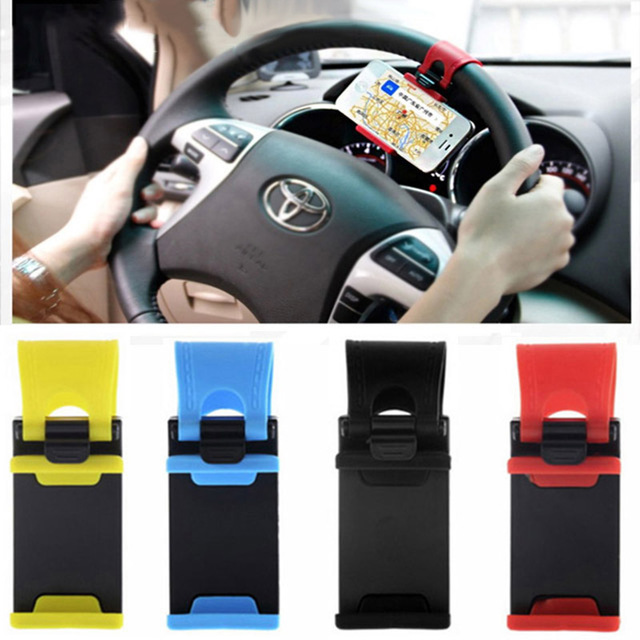 Universal Car Steering Wheel <font><b>Phone</b></font> Socket Holder Navigate <font><b>Case</b></font> Cover For <font><b>iPhone</b></font> SE 4 5S <font><b>6S</b></font> <font><b>Plus</b></font> For Samsung Galaxy S7 S5 S6 edge