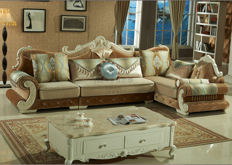 New Arrival Solid Wood Furniture Sofa SetsClassical European Style
